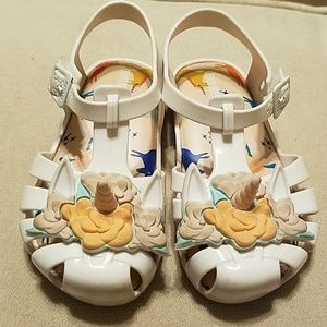 Mini melissa unicorn sandals